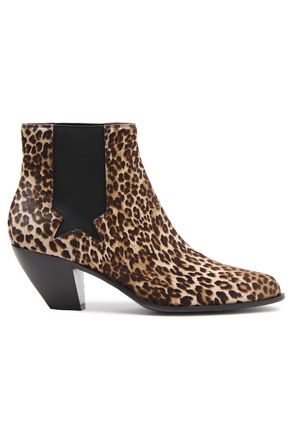 GOLDEN GOOSE DELUXE BRAND Leopard-print calf hair ankle boots
