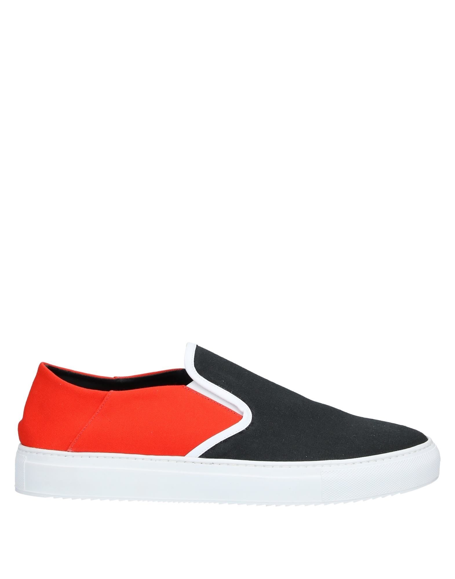 MARCELO BURLON Sneakers. canvas, no appliqués, two-tone, elasticized gores, round toeline, flat, leather lining, rubber sole, contains non-textile parts of animal origin. Textile fibers, Soft Leather