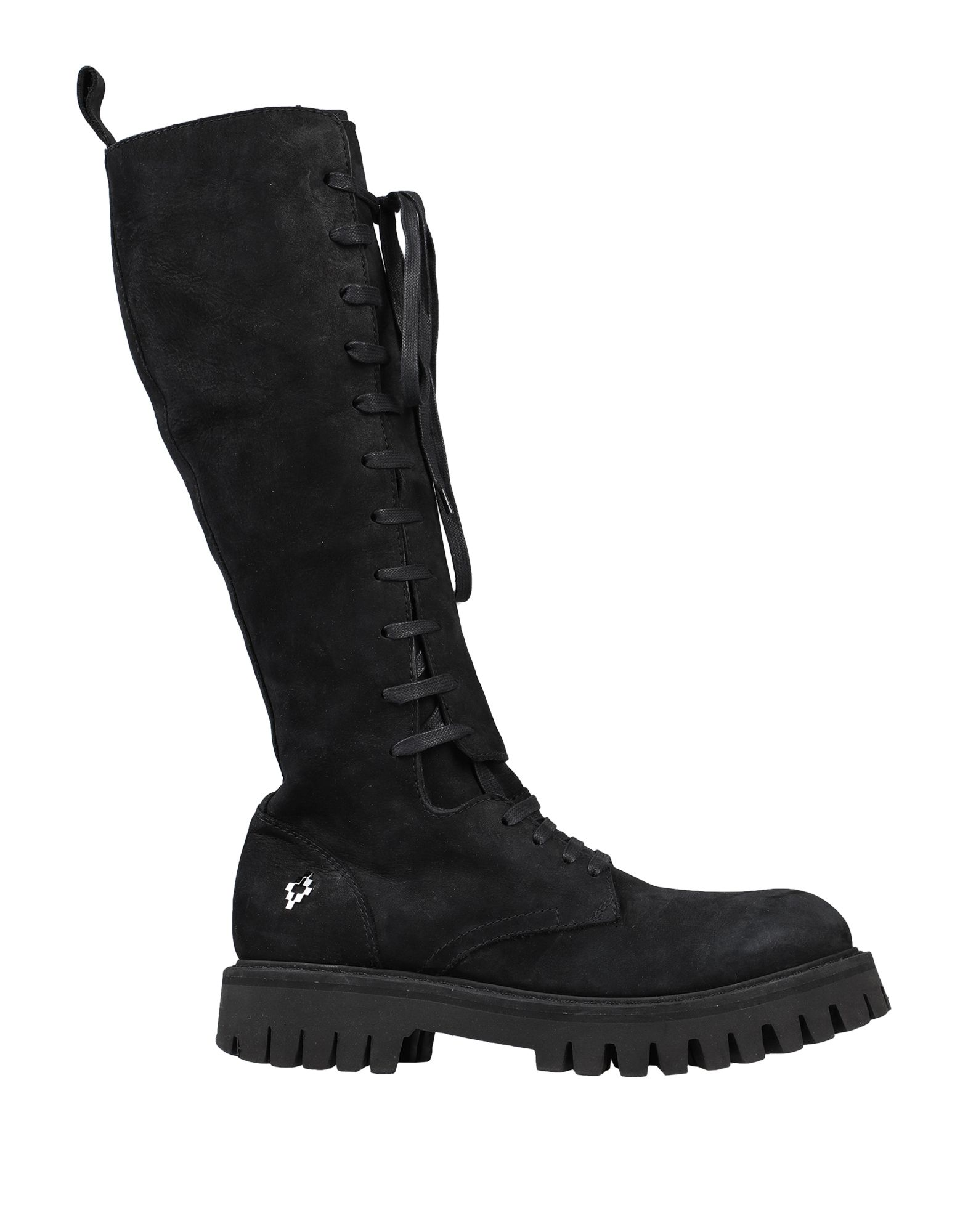 MARCELO BURLON Boots. leather, nubuck, logo, solid color, zip, round toeline, square heel, rubber lining, lug sole, contains non-textile parts of animal origin. Soft Leather