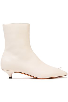 MARNI Embellished leather ankle boots