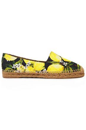 DOLCE & GABBANA حذاء إسبادريل من الجاكار المطبع برسومات