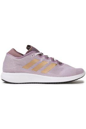 ADIDAS Edge Flex metallic-trimmed stretch-knit sneakers