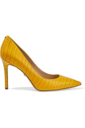 SAM EDELMAN Hazel croc-effect leather pumps