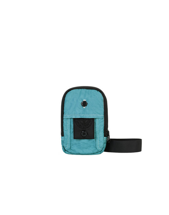 STONE ISLAND SHADOW PROJECT 90420 COMPACT POUCH BUM BAG Man Aqua