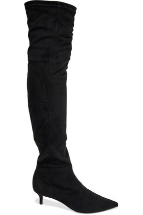 SCHUTZ Stretch-suede over-the-knee boots