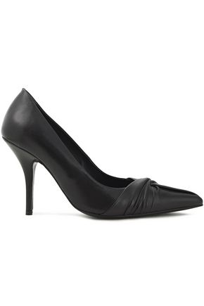 MAJE Knotted leather pumps