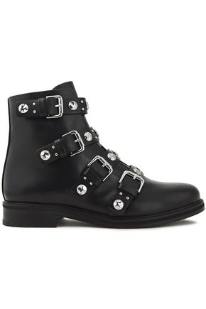 MAJE Embellished leather ankle boots