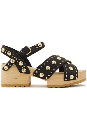 MAJE Studded leather platform sandals