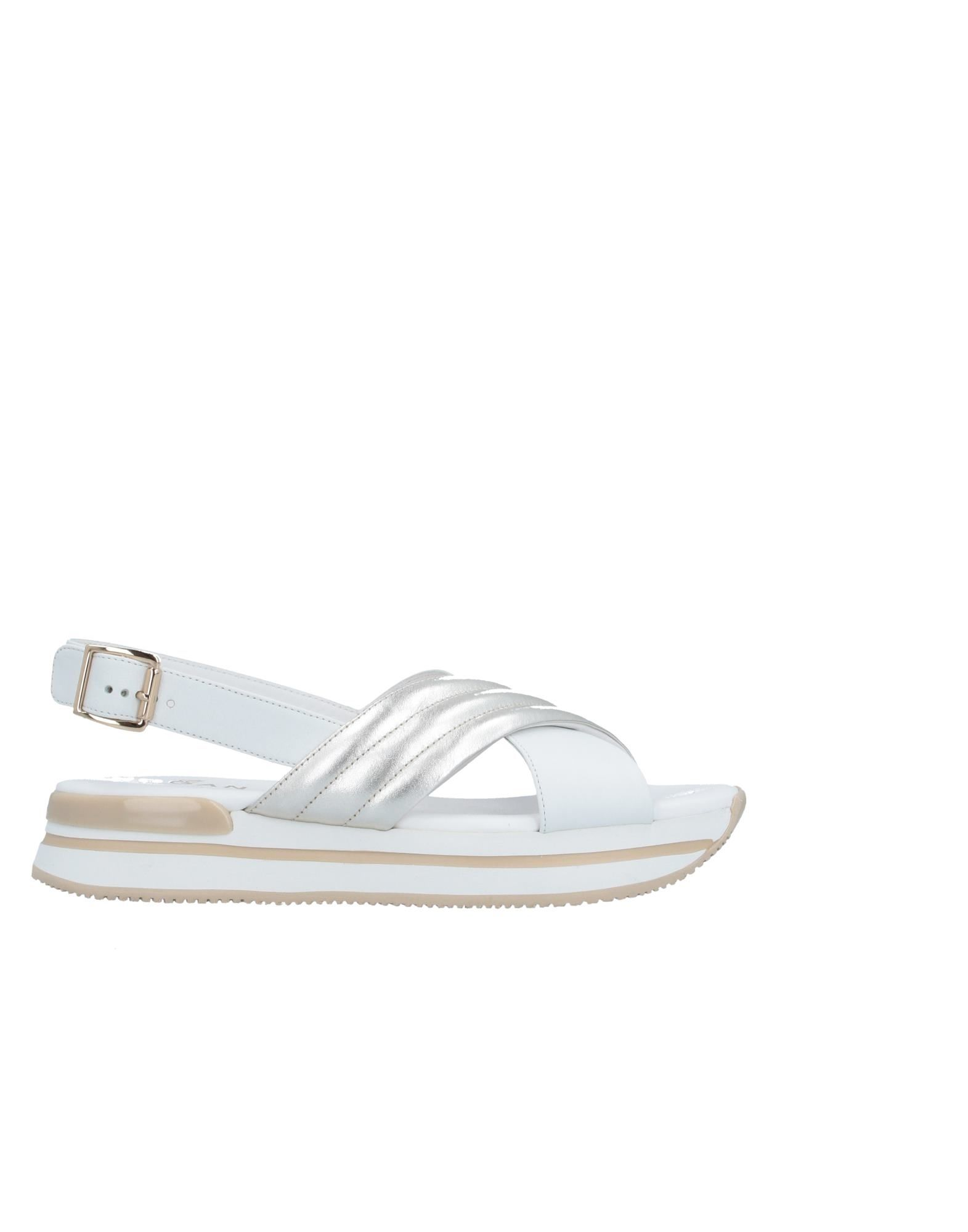 HOGAN Sandals. no appliqués, two-tone, laminated effect, buckle fastening, round toeline, flatform, leather lining, rubber sole, contains non-textile parts of animal origin. Soft Leather