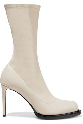 STELLA McCARTNEY Faux stretch-leather sock boots