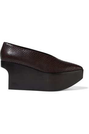 STELLA McCARTNEY Faux snake-effect leather platform pumps