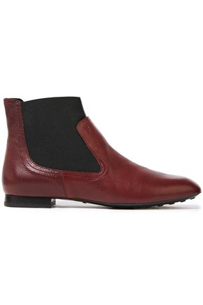 TOD'S Pebbled-leather ankle boots