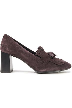 TOD'S Tasseled suede pumps