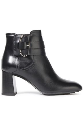 TOD'S Ring-embellished leather ankle boots