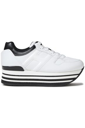 HOGAN Two-tone leather platform sneakers