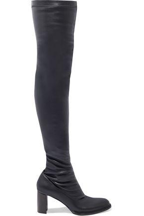 """STELLA McCARTNEY حذاء بوت لأعلى الركبة """"بالمر"""" من الجلد الاصطناعي المرن"""