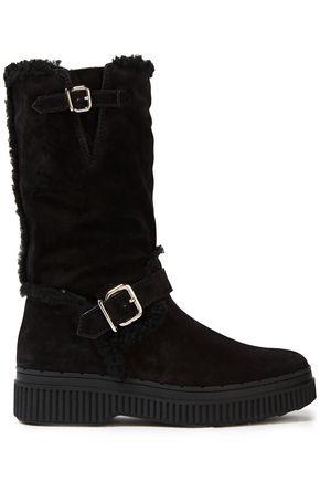 TOD'S Shearling platform boots