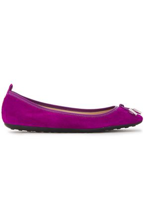 TOD'S Knotted suede ballet flats