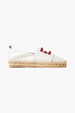 ROGER VIVIER Embelished canvas espadrilles