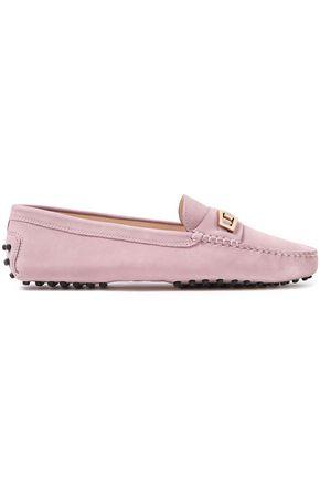 TOD'S حذاء لوفر من جلد النوبوك مزيّن بإبزيم