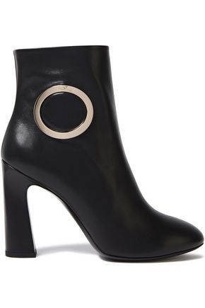 ROGER VIVIER Embellished leather ankle boots