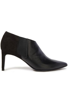 RAG & BONE Paneled suede and leather ankle boots