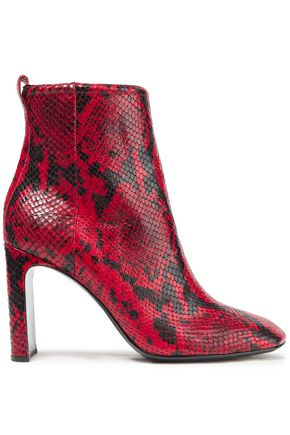 RAG & BONE Snake-effect leather ankle boots