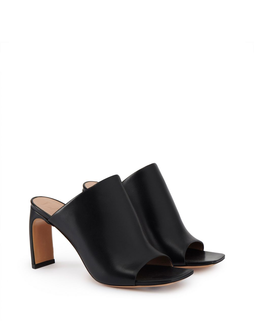 J MULES IN CALFSKIN LEATHER  - Lanvin