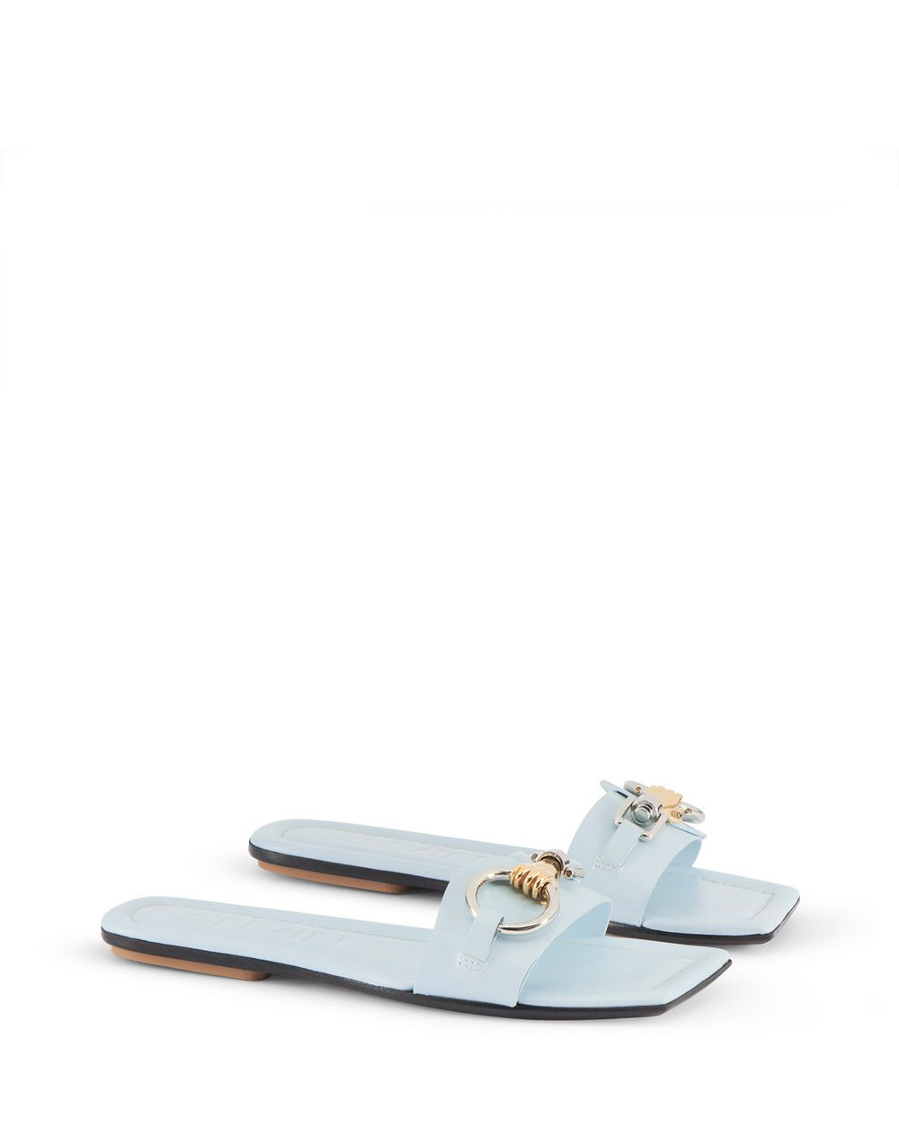 FLAT JEWELED SANDAL - Lanvin