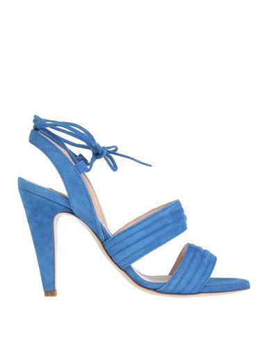 Фото - Женские сандали  ярко-синего цвета