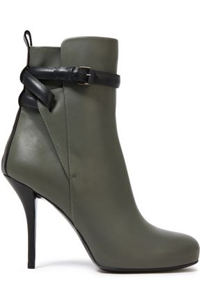 BALENCIAGA Buckled leather ankle boots