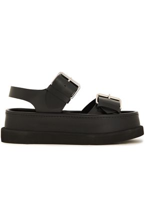 STELLA McCARTNEY Buckle-detailed faux leather platform sandals