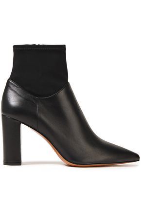 ATP ATELIER Enna 85 stretch knit-paneled leather ankle boots