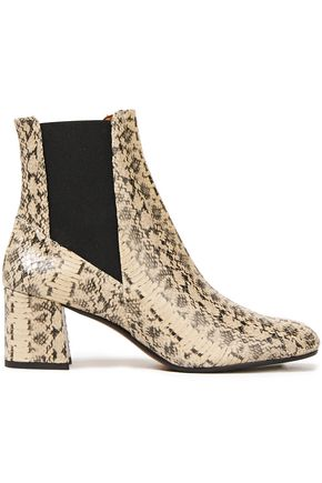 ATP ATELIER Altea snake-effect leather ankle boots