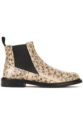 ATP ATELIER Clivia snake-effect leather ankle boots