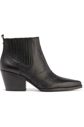 SAM EDELMAN Winona paneled leather ankle boots