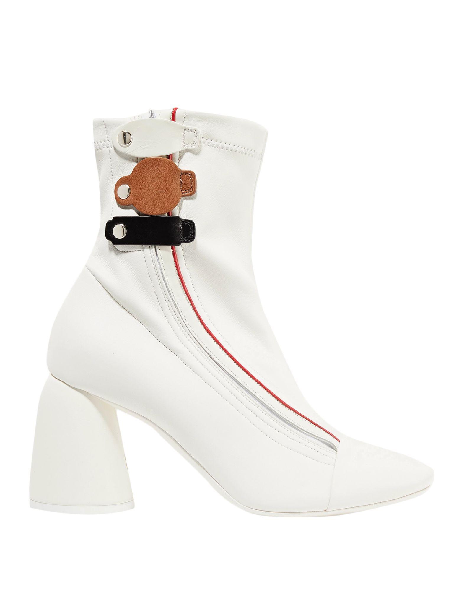 《セール開催中》ELLERY レディース ショートブーツ ホワイト 37 革 / 紡績繊維