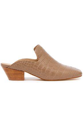 NANUSHKA Payam croc-effect vegan leather mules