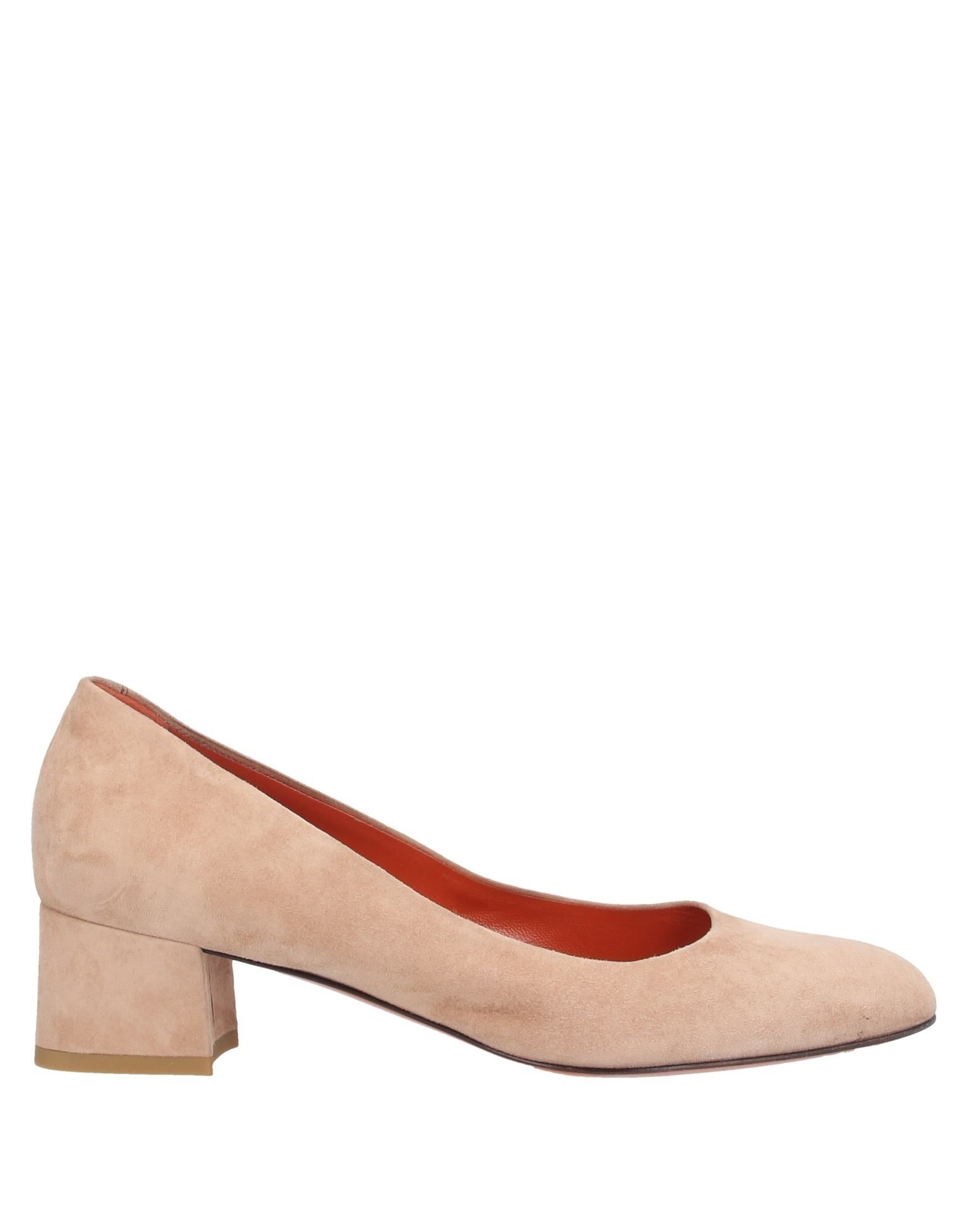 SANTONI Pumps. leather, nubuck, no appliqués, solid color, round toeline, square heel, leather lining, leather sole, large sized, contains non-textile parts of animal origin. Soft Leather