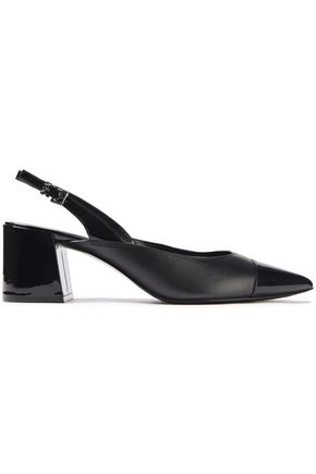 MICHAEL MICHAEL KORS Smooth and patent-leather slingback pumps