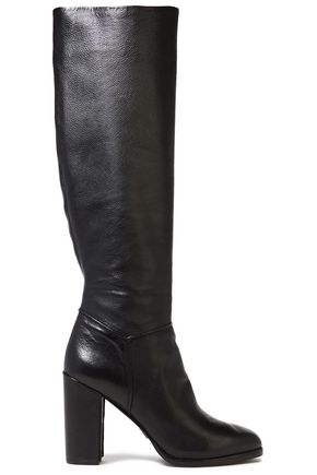 MICHAEL KORS COLLECTION Pebbled-leather knee boots