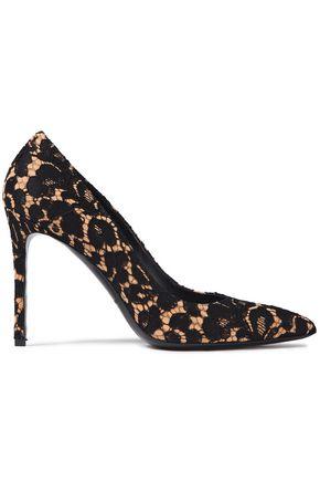 MICHAEL KORS COLLECTION حذاء بمب من الشامواه مع تصميمات مخيطة بالدانتيل المضلع