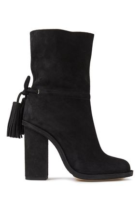 LANVIN Tasseled suede boots