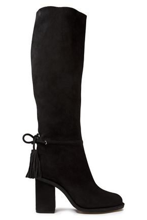 LANVIN Tasseled suede knee boots