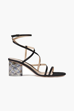 GIANVITO ROSSI Raso 60 embellished satin sandals