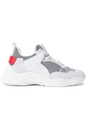 IRO Curverunner color-block leather, canvas and suede sneakers