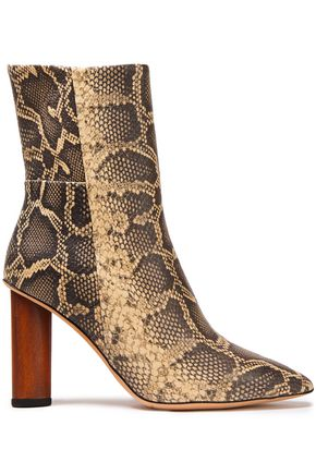 IRO Spokane snake-effect leather ankle boots