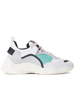 IRO Curve Runner color-block leather, suede and mesh sneakers