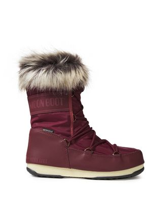 MOON BOOT Faux fur-trimmed logo-print shell and faux leather snow boots