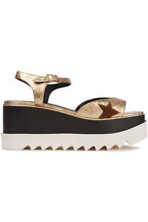 STELLA McCARTNEY Faux snake-effect leather platform sandals